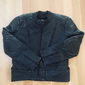 Men's Leather Biker Jacket Thinsulate lined